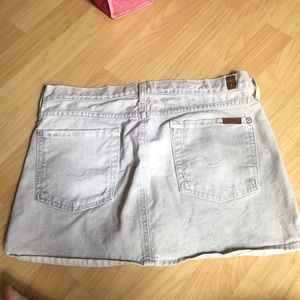 7 for All Mankind gray denim skirt-super cute on